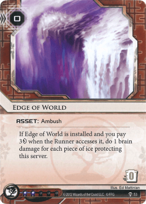Android Netrunner Edge of World Image