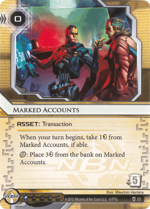 Android Netrunner Marked Accounts Image
