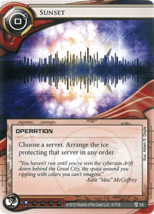 Android Netrunner Sunset Image