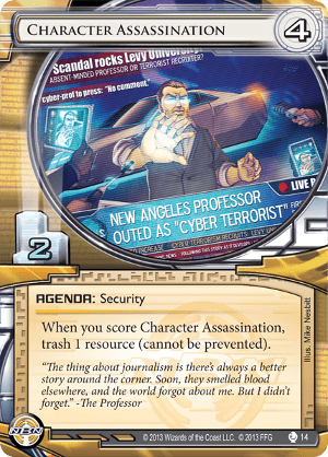 Android Netrunner Character Assassination Image