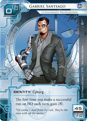 Android Netrunner Gabriel Santiago: Consummate Professional Image