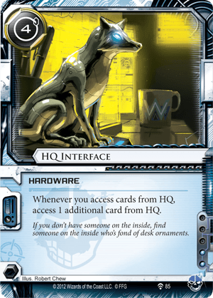 Android Netrunner HQ Interface Image