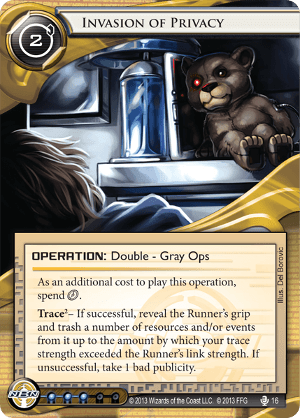 Android Netrunner Invasion of Privacy Image