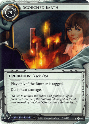 Android Netrunner Scorched Earth Image