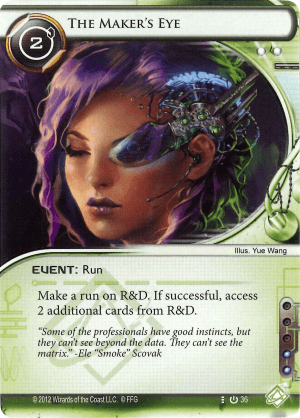Android Netrunner The Maker's Eye Image