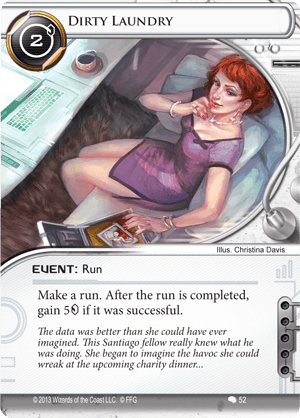 Android Netrunner Dirty Laundry Image