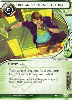 Android Netrunner Freelance Coding Contract Image