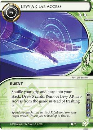 Android Netrunner Levy AR Lab Access Image