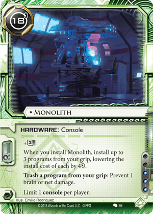 Android Netrunner Monolith Image