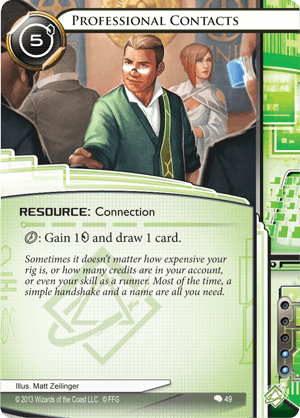 Android Netrunner Professional Contacts Image