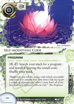 Android Netrunner Self-modifying Code Image