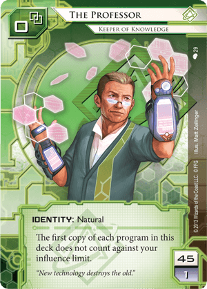 Android Netrunner The Professor: Keeper of Knowledge Image