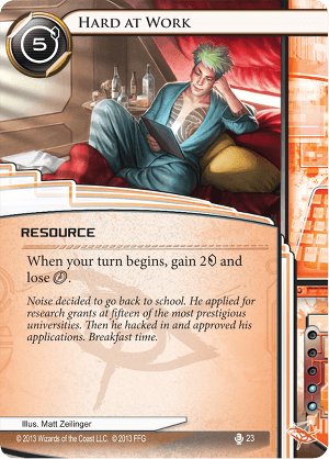 Android Netrunner Hard at Work Image