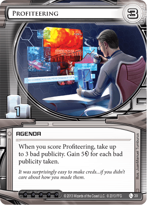 Android Netrunner Profiteering Image