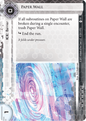 Android Netrunner Paper Wall Image