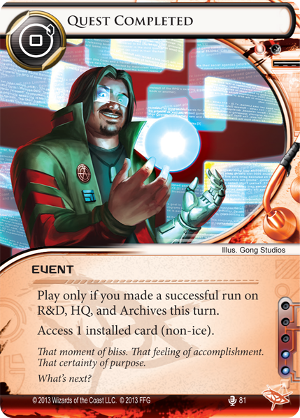 Android Netrunner Quest Completed Image