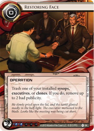 Android Netrunner Restoring Face Image