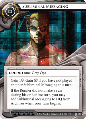 Android Netrunner Subliminal Messaging Image