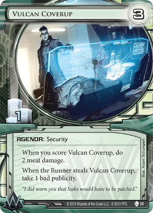 Android Netrunner Vulcan Coverup Image