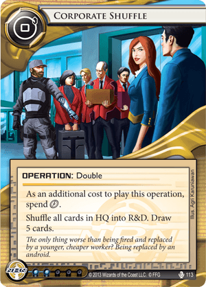 Android Netrunner Corporate Shuffle Image