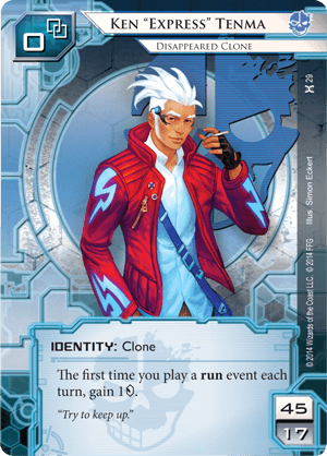 "Android Netrunner Ken ""Express"" Tenma: Disappeared Clone Image"