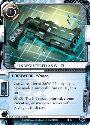 Android Netrunner Unregistered S&W '35 Image
