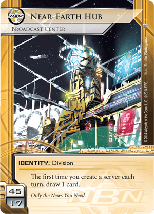 Android Netrunner Near-Earth Hub: Broadcast Center Image