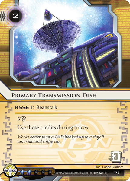 Android Netrunner Primary Transmission Dish Image