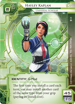 Android Netrunner Hayley Kaplan: Universal Scholar Image