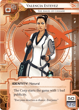 Android Netrunner Valencia Estevez: The Angel of Cayambe Image