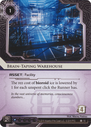 Android Netrunner Brain-Taping Warehouse Image