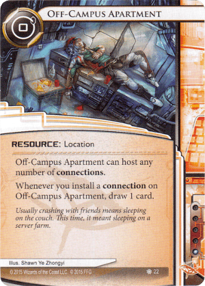 Android Netrunner Off-Campus Apartment Image