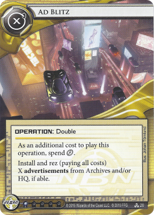 Android Netrunner Ad Blitz Image
