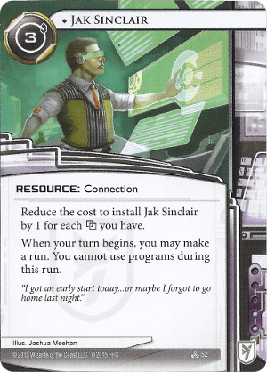 Android Netrunner Jak Sinclair Image