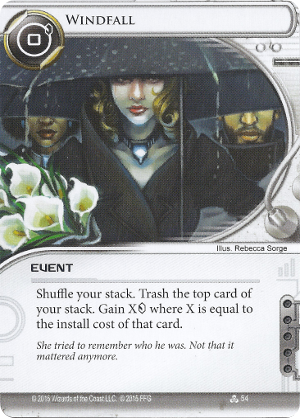 Android Netrunner Windfall Image