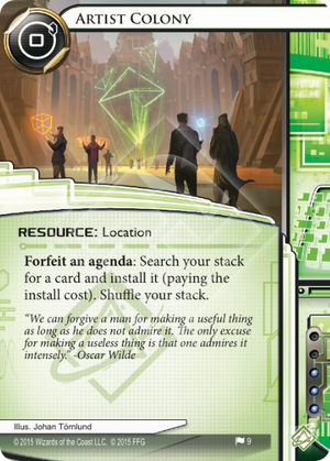 Android Netrunner Artist Colony Image