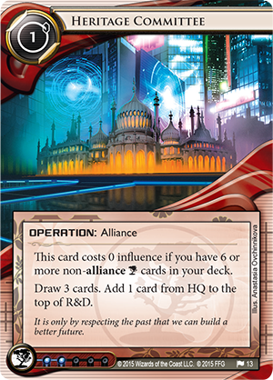 Android Netrunner Heritage Committee Image