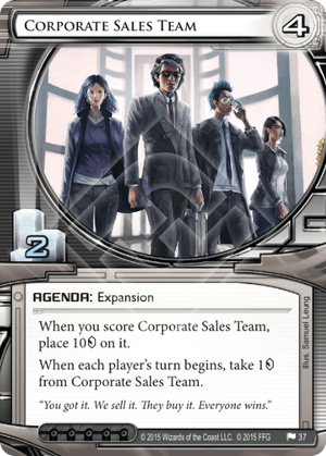 Android Netrunner Corporate Sales Team Image