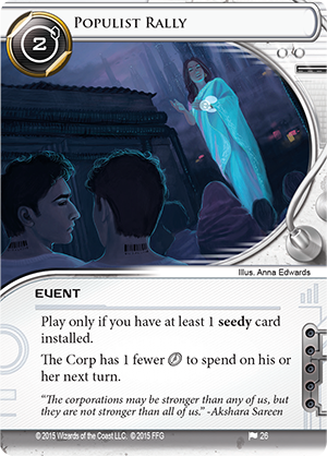 Android Netrunner Populist Rally Image