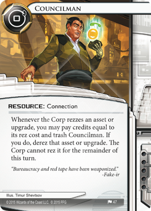 Android Netrunner Councilman Image