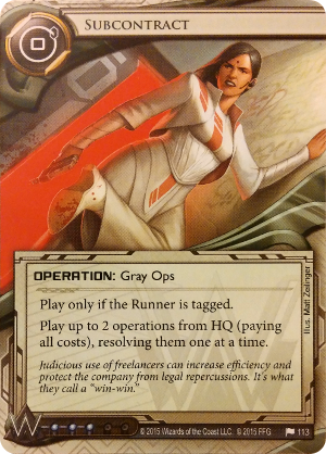 Android Netrunner Subcontract Image