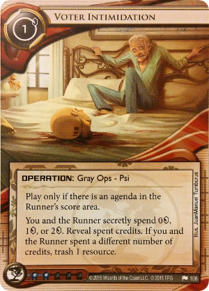 Android Netrunner Voter Intimidation Image