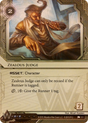 Android Netrunner Zealous Judge Image