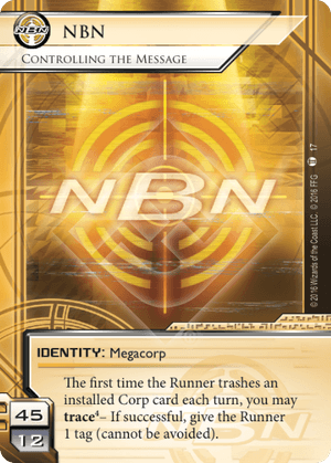 Android Netrunner NBN: Controlling the Message Image
