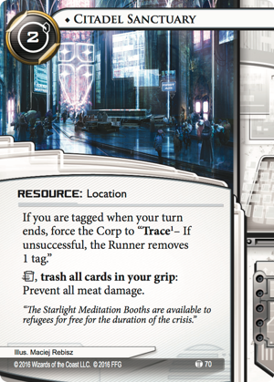 Android Netrunner Citadel Sanctuary Image