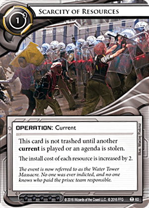 Android Netrunner Scarcity of Resources Image