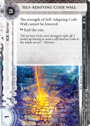 Android Netrunner Self-Adapting Code Wall Image