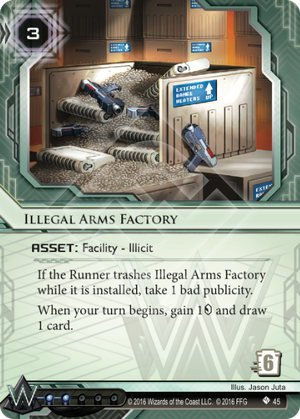 Android Netrunner Illegal Arms Factory Image