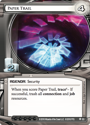 Android Netrunner Paper Trail Image