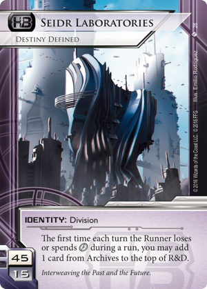 Android Netrunner Seidr Laboratories: Destiny Defined Image